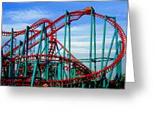 Roller Coaster Painting Greeting Card