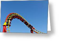 Roller Coaster Ride Greeting Card