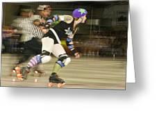 Roller Girlz 1 Greeting Card