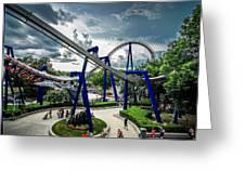 Rollercoaster Amusement Park Ride Greeting Card