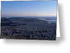Rolling Hills And Forests Greeting Card