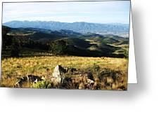 Rolling Mountain Morning Greeting Card