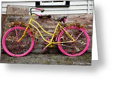 Rolling On Pink Greeting Card