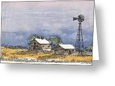 Rolling Plains Homestead Greeting Card