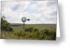 Rolling Plains Windmill Greeting Card