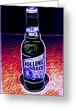 Rolling Rock Dark Greeting Card