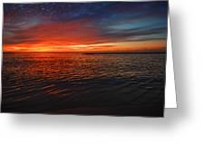Rolling Sunrise Colors Greeting Card