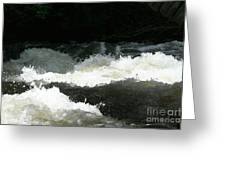 Rolling White Water Greeting Card