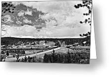 Rollinsville Colorado Small Town 181 In Black And White Greeting Card