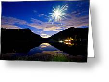 Rollinsville Yacht Club Fireworks Private Show 52 Greeting Card