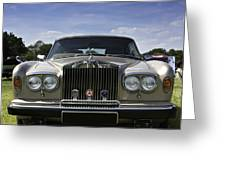 Rolls Royce Corniche 1980 Greeting Card