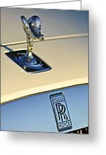 Rolls-royce Hood Ornament 3 Greeting Card