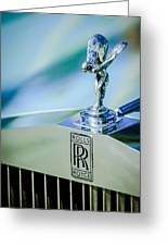Rolls-royce Hood Ornament -782c Greeting Card