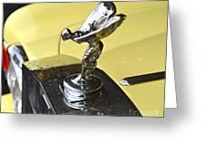 Rolls Royce Hood Ornament Greeting Card