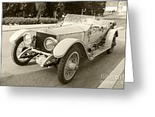 Rolls Royce Silver Ghost  Greeting Card