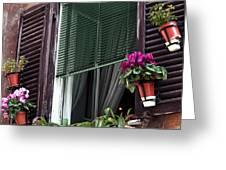Roma Window Art Greeting Card
