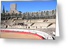 Roman Amphitheater In Arles Greeting Card