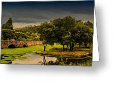 Roman Bridge By The Lake Greeting Card