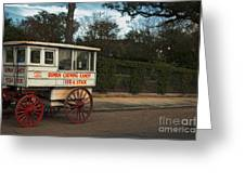 Roman Candy Wagon New Orleans Greeting Card