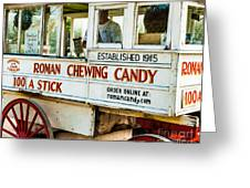 Roman Chewing Candy Nola Greeting Card