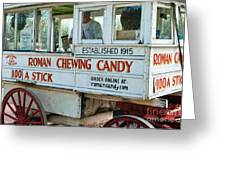 Roman Chewing Candy Wagon In New Orleans Greeting Card