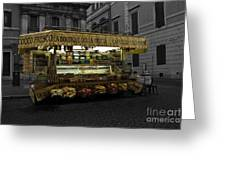 Roman Confectionary Cart Greeting Card