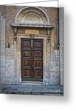 Roman Doors Greeting Card