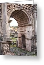 Roman Forum Arch Greeting Card