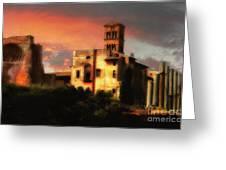 Roman Forum At Sunset Greeting Card