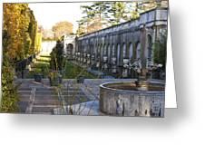 Roman Gardens In Fall Greeting Card
