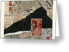 Roman Map Collage Greeting Card