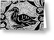 Roman Mosaic Bird Greeting Card by Mair Hunt