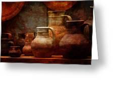 Roman Pots Greeting Card