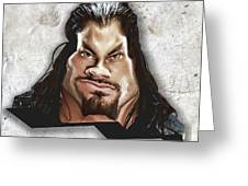 Roman Reigns Caricature By Gbs Greeting Card