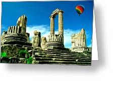 Roman Ruins From Above Greeting Card