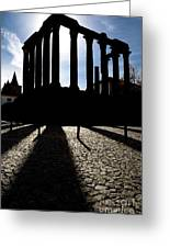 Roman Temple Silhouette Greeting Card