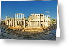 roman theatre in Merida Greeting Card