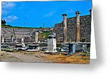 Roman Theatre In Pergamum-turkey  Greeting Card