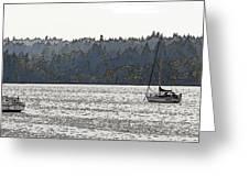 Romance II On Liberty Bay Greeting Card