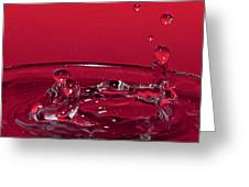 Romance In Venice Water Drops Greeting Card