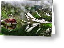 Romanian Glacier Lake Greeting Card