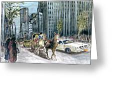 New York 5th Avenue Ride - Fine Art Greeting Card