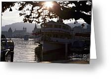 Romantic Afternoon Scenic In Lucerne Greeting Card