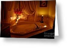 Romantic Bubble Bath Greeting Card by Kay Novy