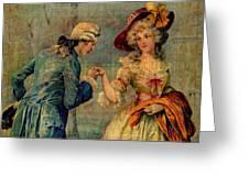 Romantic Meeting Greeting Card
