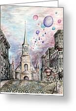 Romantic Montreal Canada - Watercolor Pencil Greeting Card