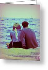 Romantic Seaside Moment Greeting Card