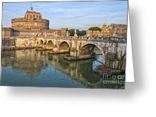 Rome Castel Sant Angelo 01 Greeting Card