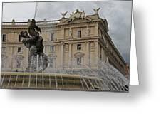 Rome Italy Fountain Naiads Greeting Card