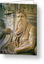 Rome, Italy. Michelangelos Moses Greeting Card